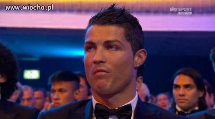 Mina Ronaldo po ogłoszeniu zdobywcy.