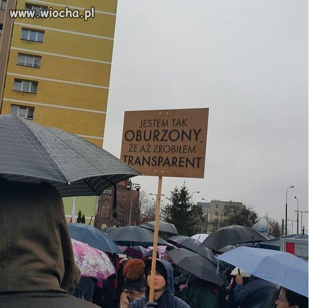 Echa protestów