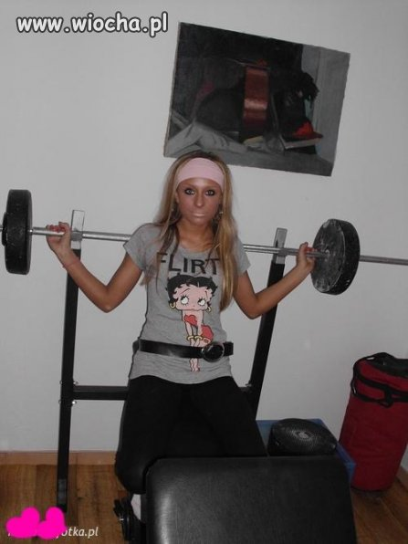 Lans na siłowni