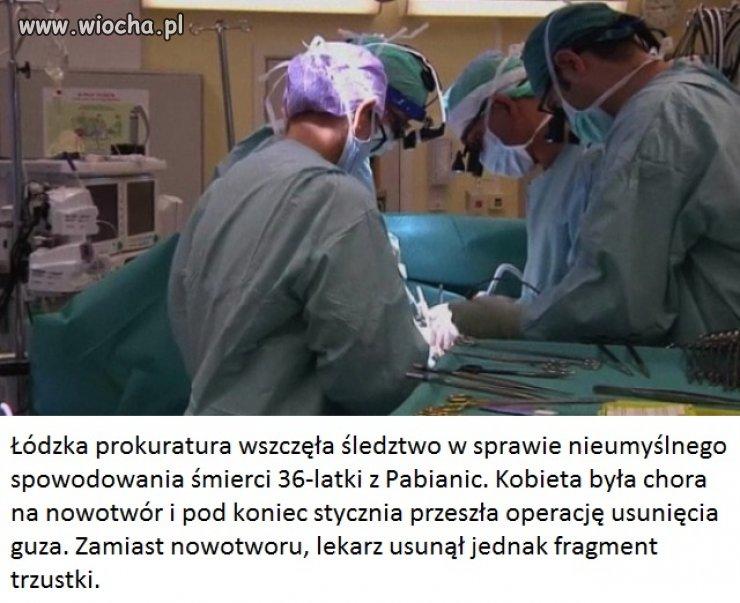Chora na raka zmarła po operacji