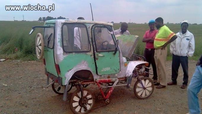Jeep z napędem na cztery