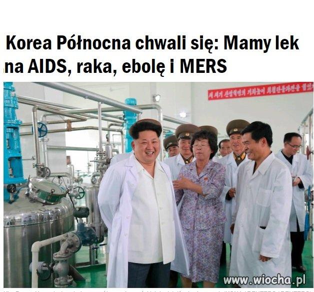 Korea Północna ma lek na AIDS, raka...