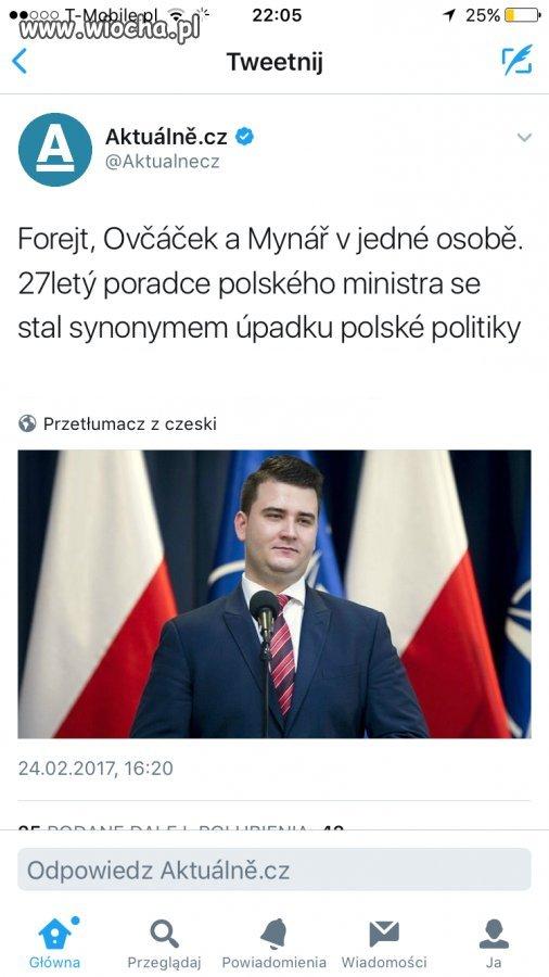 Czesi już wiedzą o Misiewiczu