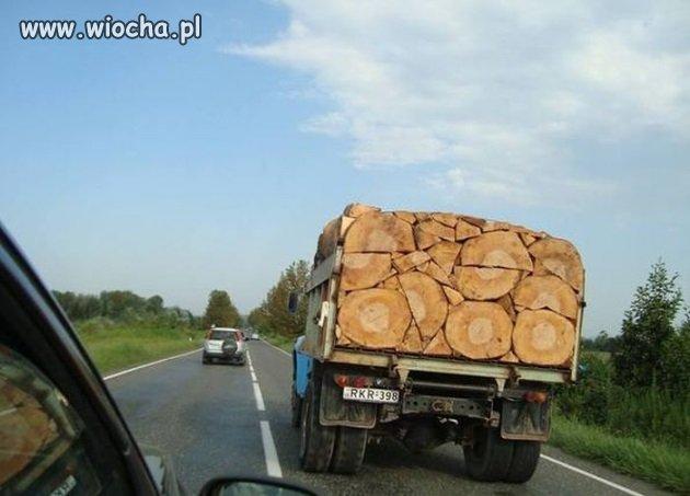 Perfekcyjne ułożenie drewna