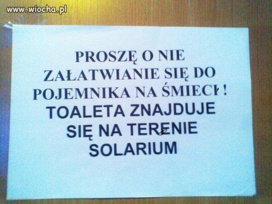Niespodzianka  w solarium