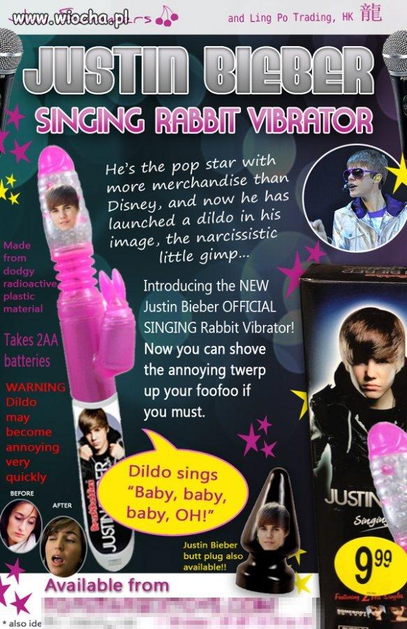 Wibrator śpiewający piosenki Justina hm...