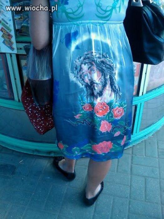 Jezus na dupie, róże na dole.