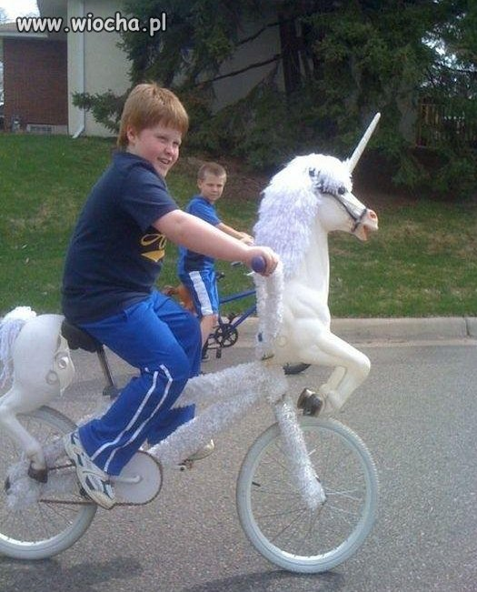 Jaki mam śłitaśny rowerek