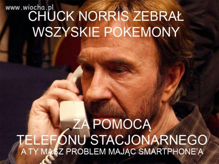 Chuck Norris zebrał już wszystkie Pokemony