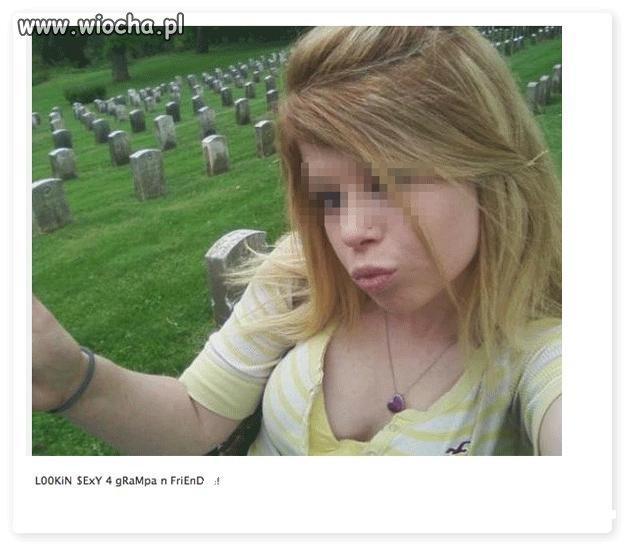 Dzióbek na cmentarzu???!!!