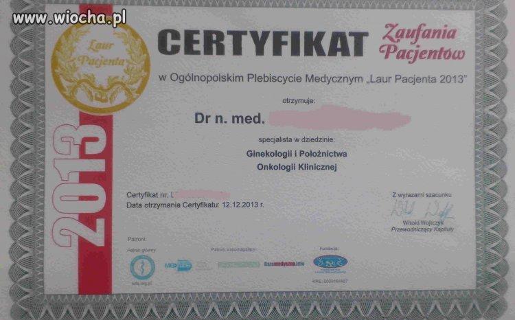 Certyfikat - zapłać 400PLN możesz uzywać Laur