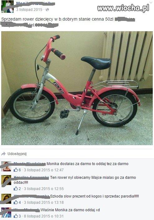 Sprzedam rowerek dla dziecka obiecany komuś innemu