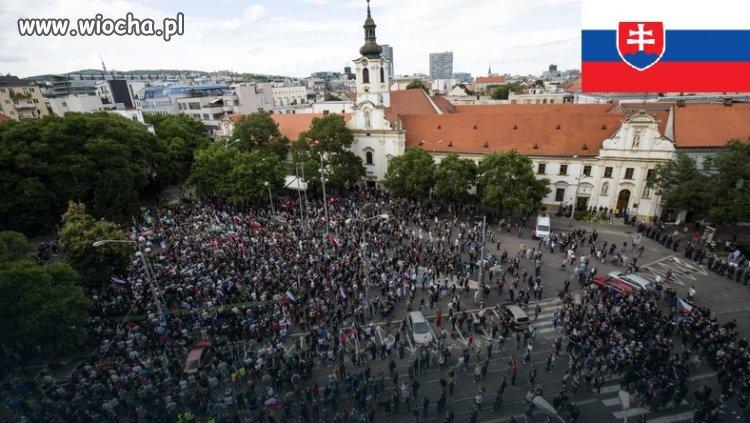 Słowacy pokazali co myślą o UE i imigrantach