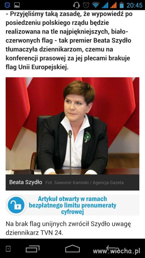 Bo flaga unii przynosi wstyd Europie.