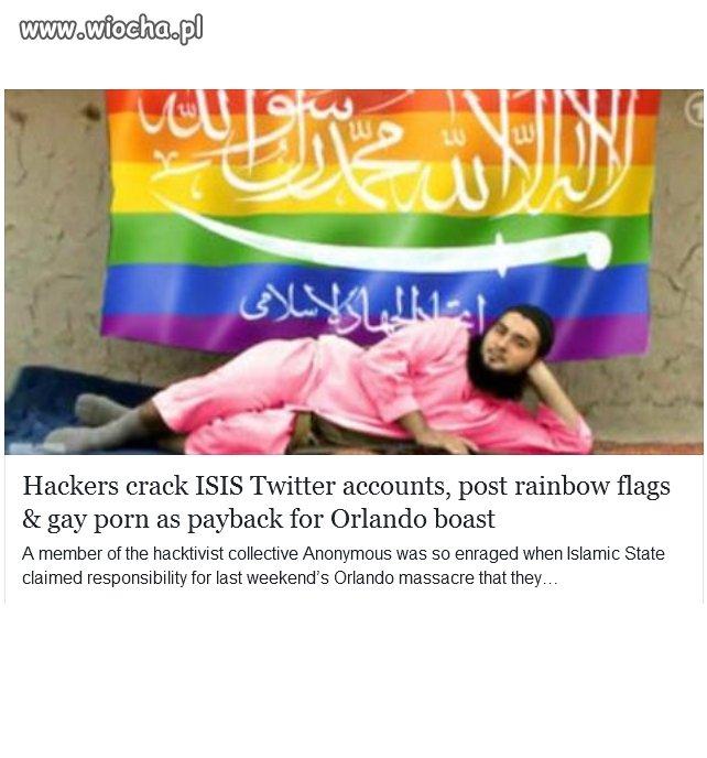 Hakerzy z grupy Anonymous zhakowali konta ISIS