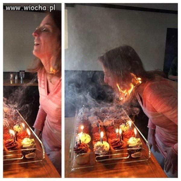 Zdmuchiwanie świeczek