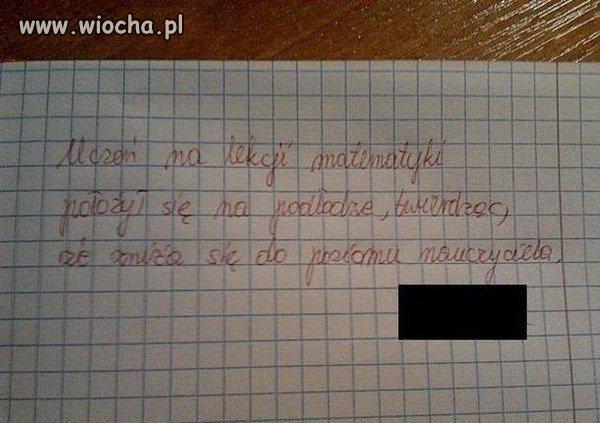 Nauczyciel poczuł się pewnie zawstydzony