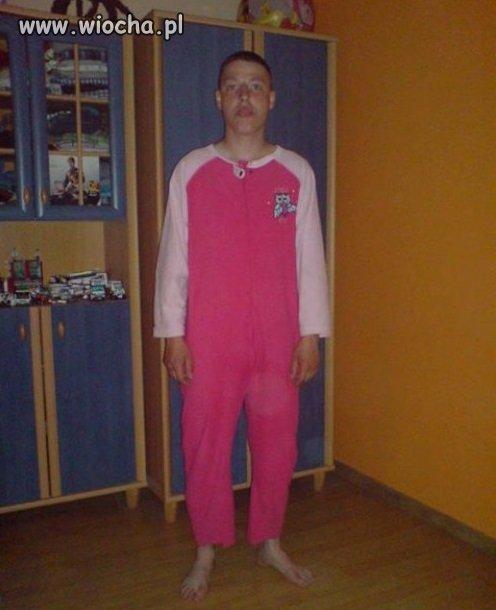 Wypaśna piżamka jak dla chłpaka