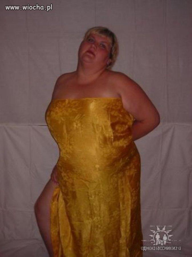 Zasłona zamiast sukienki...