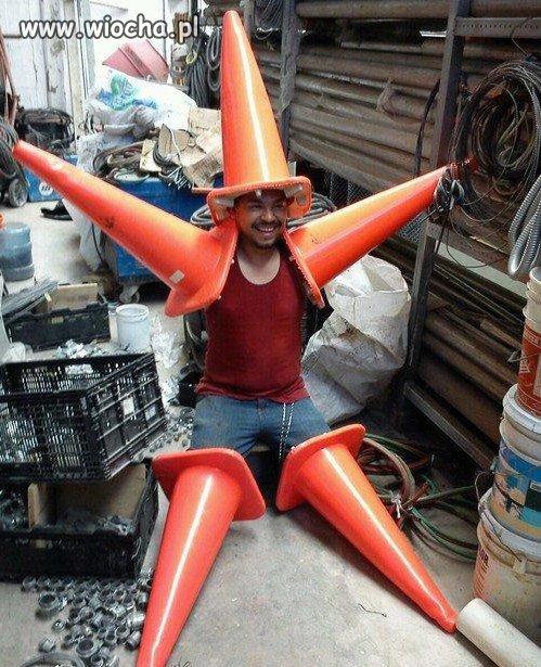 Chyba chciał zostać gwiazdą...