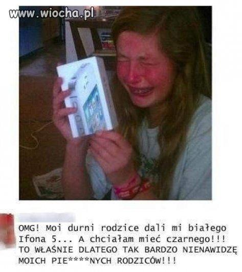 Biały, a nie czarny iPhone, 5 już nie mam rodziców...