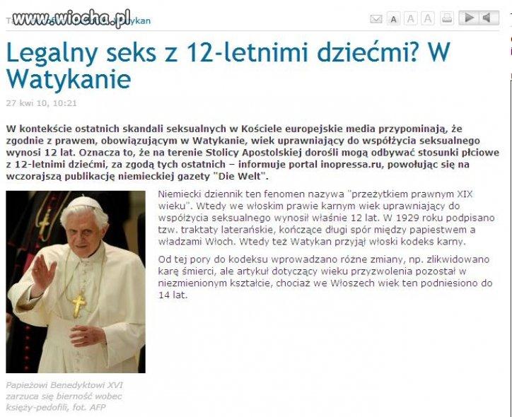 Watykan stolicą pedofilii