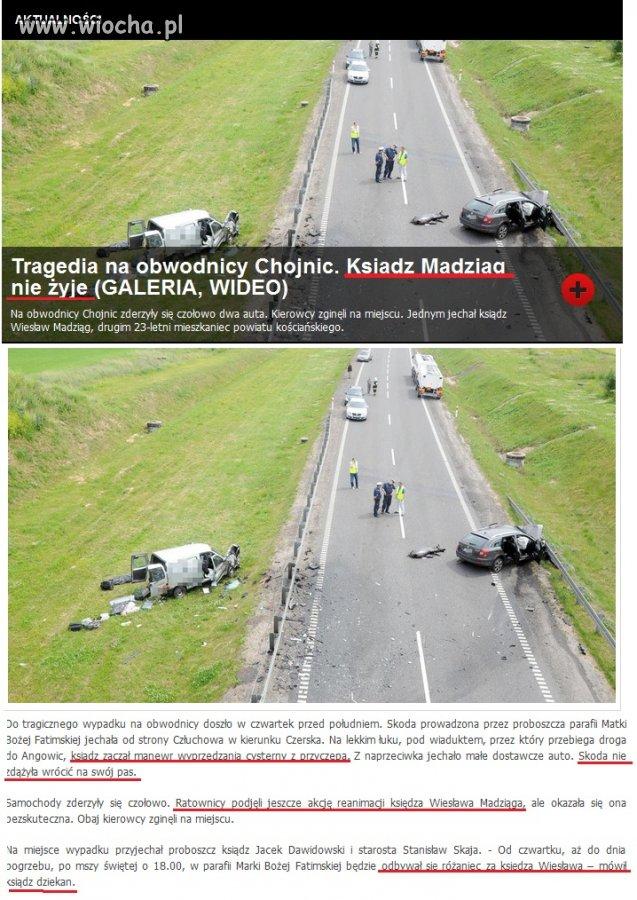 Ksiądz spowodował wypadek zabijając 23-latka