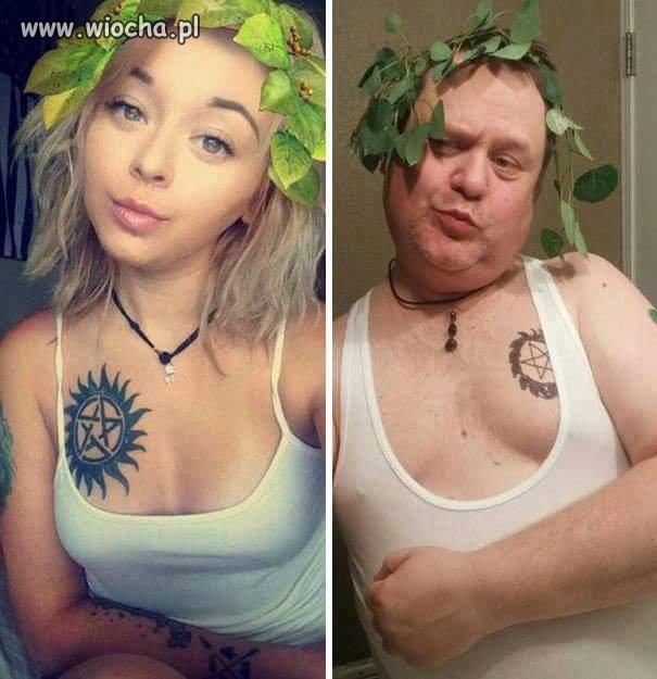 Tatuś strolował córeczkę
