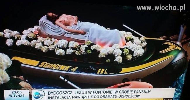 """Jezus w pontonie """"morski jastrząb"""""""