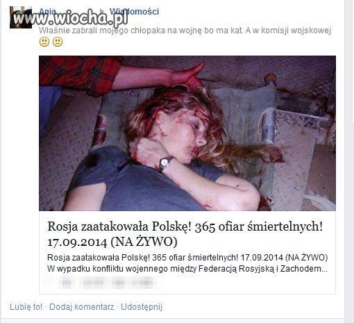 Rosja zaatakowa�a Polsk�