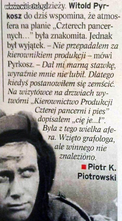 Zawsze lubiłem Pyrkosza.