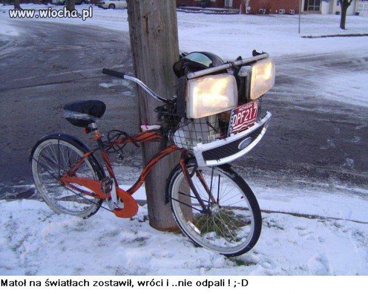 Tuningu uczył się na rowerze...