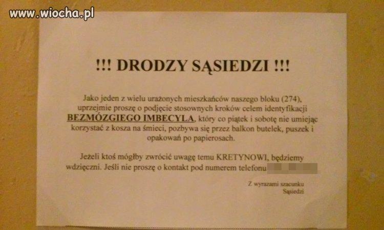 W jednym z wieżowców w Łodzi...