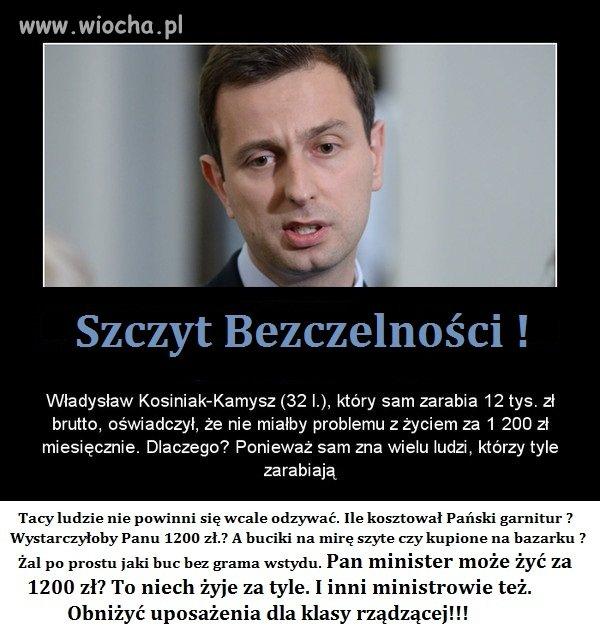 Ministrze weź moją pracę za 1 200 zł