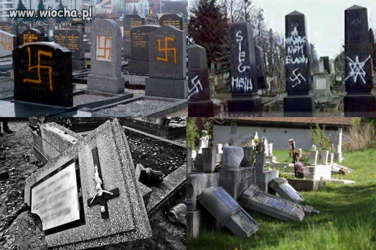 Akt wandalizmu na cmentarzu, bez względu na wiarę.