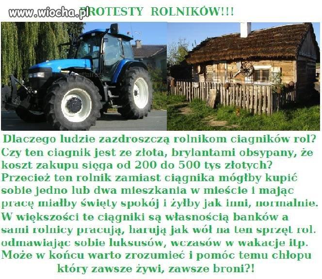 Protesty rolników ...