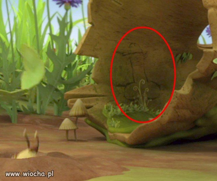 Wizerunek penisa w filmie Pszczółka Maja