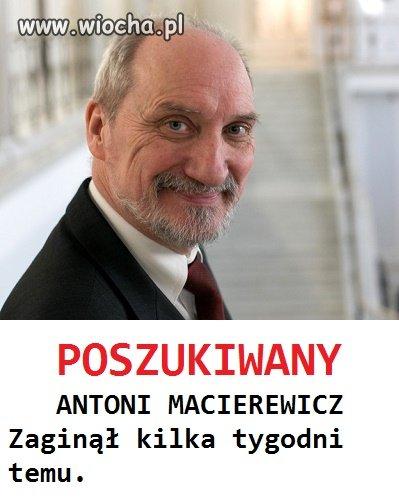 Zaginiony znany polityk