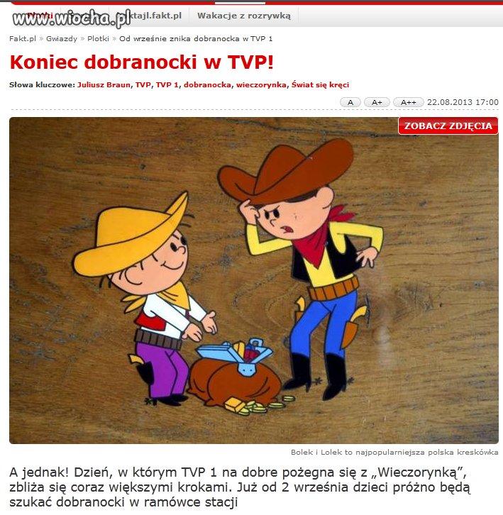 Koniec dobranocki w TVP