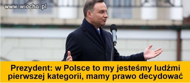 """Andrzej Duda prezydent """"wszystkich"""" Polaków"""