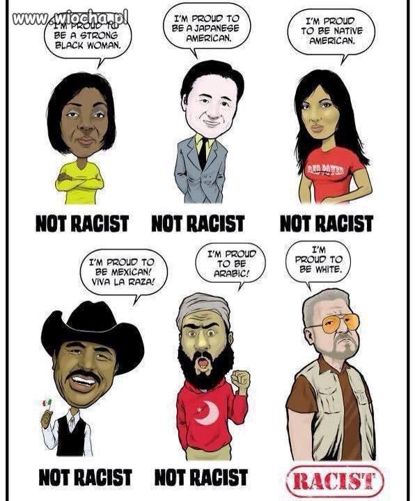 Znajdź rasistę...