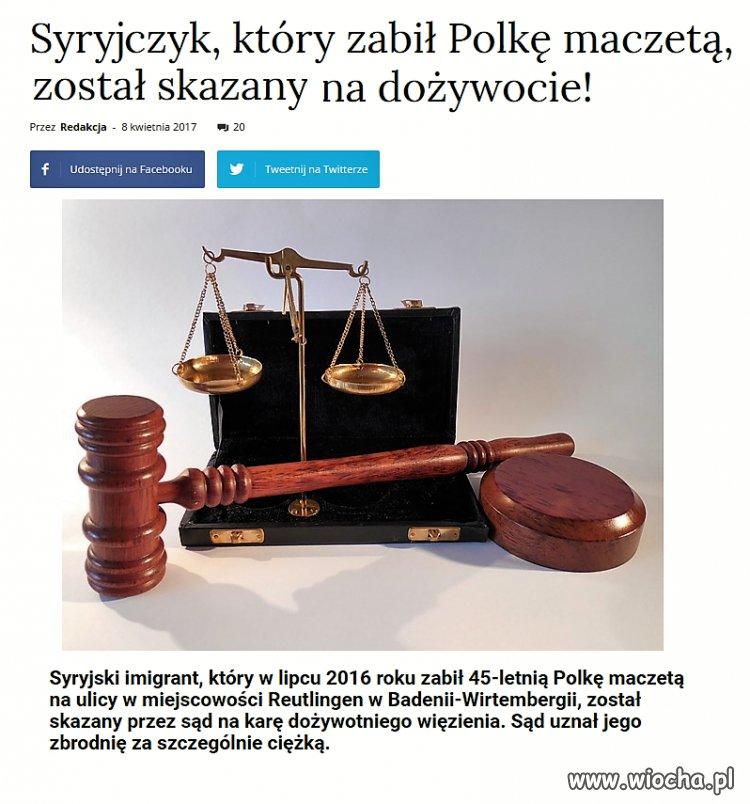 Syryjczyk, morderca Polki skazany na dożywocie