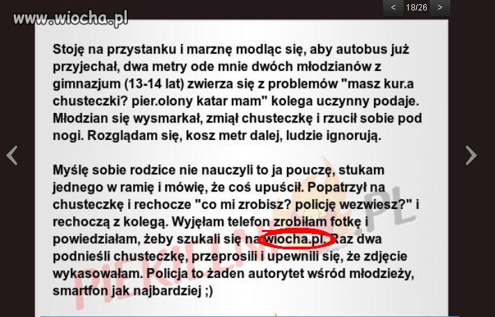 Wiocha.pl na straży prawa
