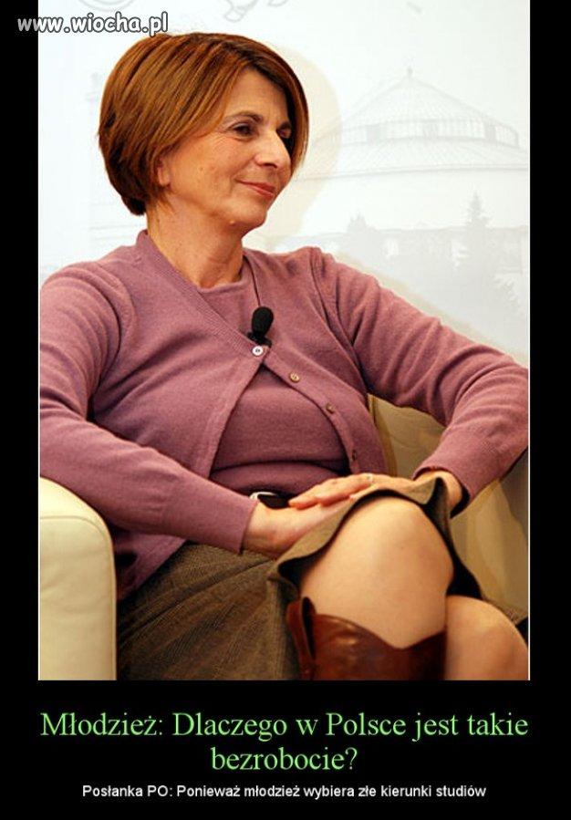 I wyjaśniła dlaczego w Polsce tak duże bezrobocie