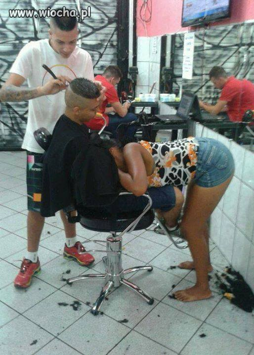 Tymczasem u fryzjera