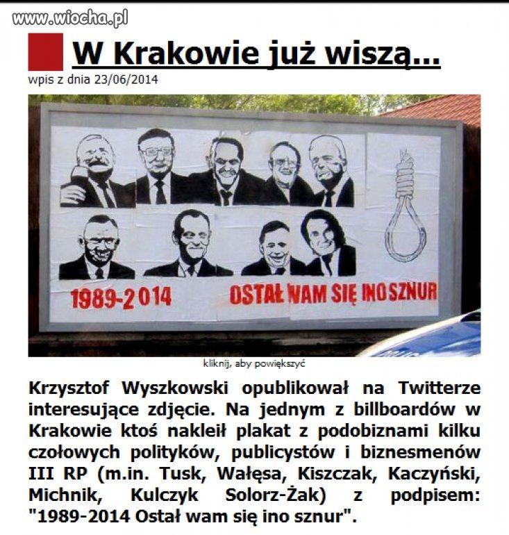 W Krakowie ju� wisz�