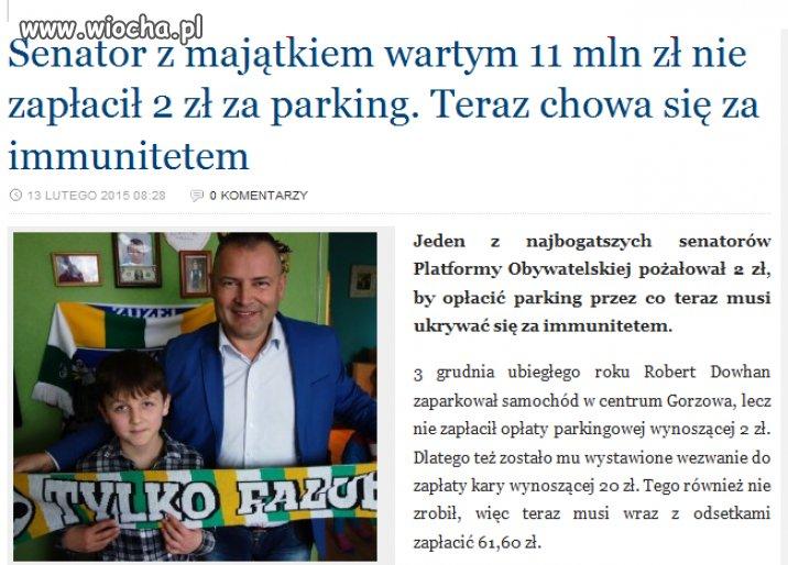 Immunitet do ochrony przed opłatą parkingową
