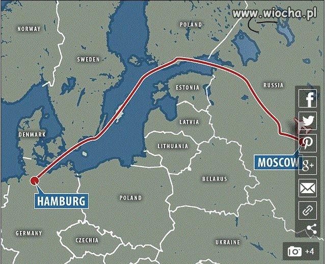 W artykule Daily o trasie samolotu z Putinem