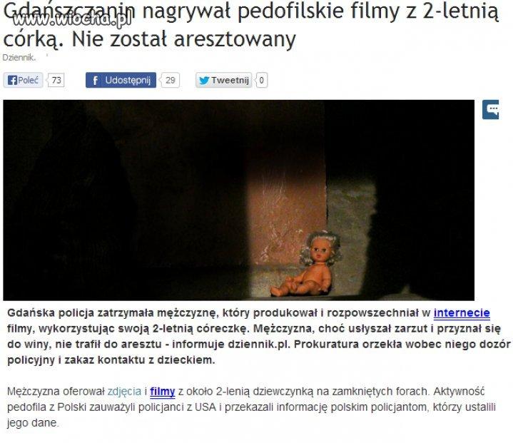 Nagrywał pedofilskie filmy  z 2-letnią córką...