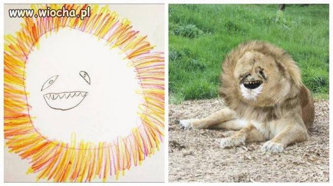Lew jak malowany